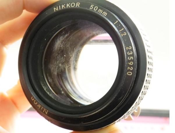 ニコン Nikon NIKKOR 50mm F1.2 Ai しつこいカビが付着