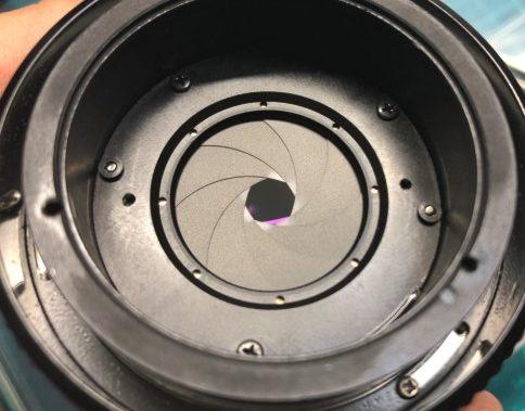 キヤノン CANON LENS FD 50mm F1.4 絞り羽根の油染みがあった