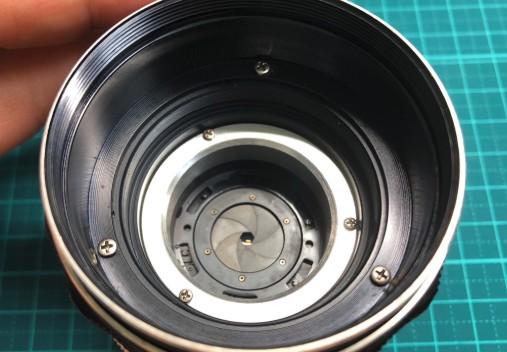 MINOLTA MC W.ROKKOR-HG 35mm F2.8 分解清掃し絞り羽根の動作を改善させました