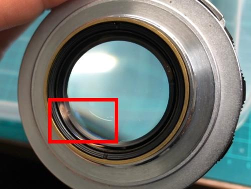 キヤノン Canon Lens 50mm F1.2 for Leica L39 バルサム切れではない薄いカビ付着