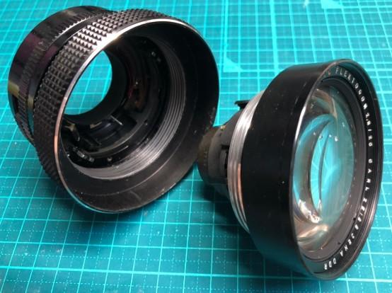 electric MC FLEKTOGON フレクトゴン 20mm F2.8 CARL ZEISS JENA DDR 鏡胴からレンズユニットが外れていた