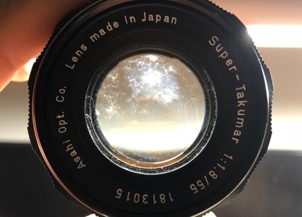 ペンタックス PENTAX ASAHI Super-Takumar 55mm F1.8 前玉カビ付着