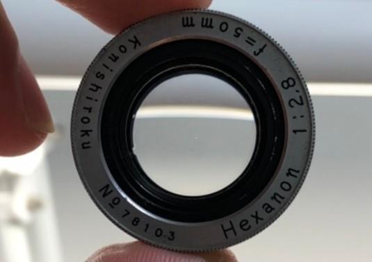 コニカ Konica II HEXANON 50mm F2.8 24 × 36 前玉のカビを除去