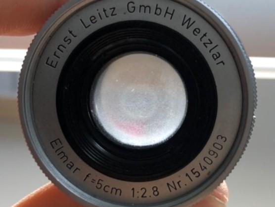 ライカ Leica Elmar 5cm F2.8 Ernst Leitz GmbH Wetzlar 沈胴型 Lマウントバルサム切れあり
