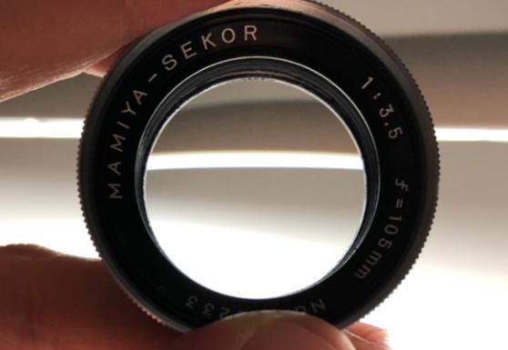 マミヤ MAMIYA SEKOR 105mm F3.5 カビ除去