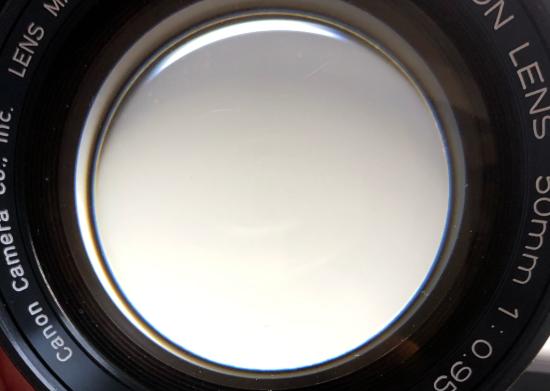 キヤノン CANON LENS 50mm F0.95 曇り除去