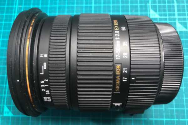 シグマ SIGMA 17-50mm F2.8 EX DC OS キヤノン用 ズーム動作不良レンズを買取りました