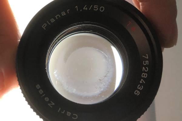 コンタックス Contax Carl Zeiss Planar 50mm F1.4 T MMJ カビ付着