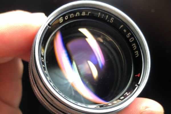 コンタックス CONTAX Zeiss-Opton Sonnar 50mm F1.5 RFマウント カビ取りました