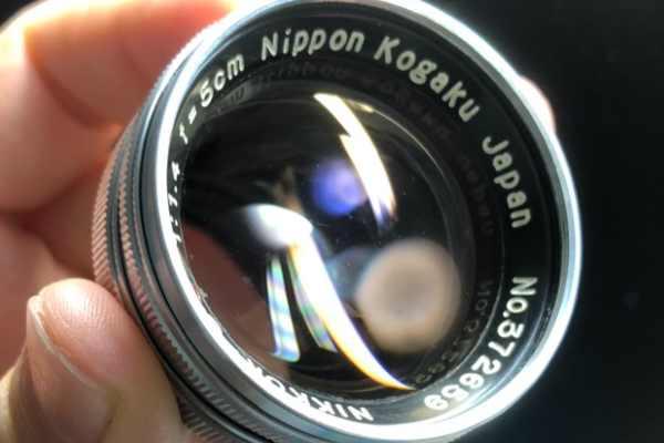Nippon kougaku japan NIKKOR-S・C 5cm F1.4 カビ取りました