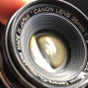 キヤノン CANON LENS 35mm F2 ライカLマウント 絞り羽根を動作させました