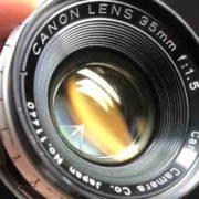キヤノン CANON LENS 35mm F1.5 LEICA クモリ取りました