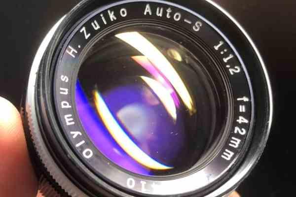 オリンパス Olympus H.Zuiko Auto-S 42mm F1.2 カビ取りました