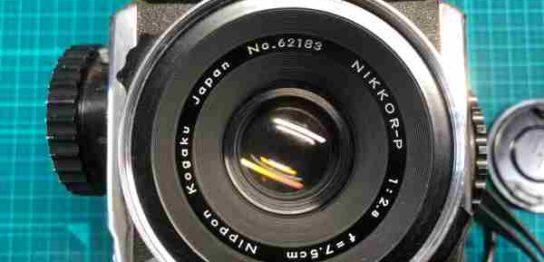 ゼンザブロニカ Zenza Bronica S + NIKKOR-P 75mm F2.8 のファインダー及びレンズにカビありを買取りました
