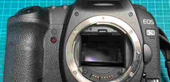 キヤノン Canon EOS 5d Mark II の落下故障(動作不可)カメラを買取りました