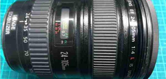 キヤノン Canon EF 24mm-105mm F4 L IS USM の落下故障(動作不可)カメラを買取りました
