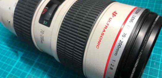 キヤノン Canon EF 70mm-200mm F2.8 L IS USM の落下故障(動作不可)カメラを買取りました
