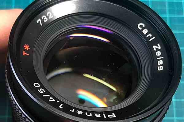 【レンズ買取】コンタックス CONTAX Carl Zeiss Planar 50mm F1.4 MMJ のカビ、クモリありを査定しました