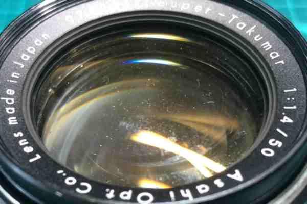 【レンズ買取】ペンタックス Asahi Pentax Super Takumar 50mm F1.4 のカビありを査定しました