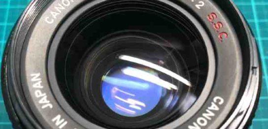 【レンズ買取】キヤノン Canon FD Lens 35mm F2 SSC s.s.c. のカビ・クモリありを査定しました